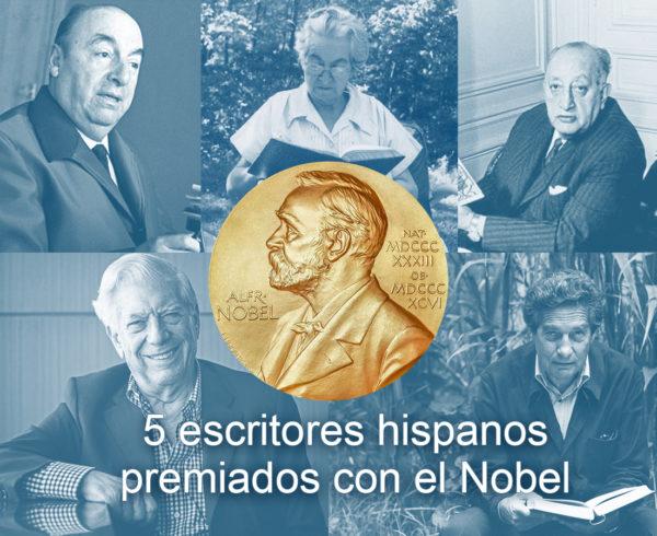 cinco escritores hispanos qe ganaron el nobel 600x490 - 5 escritores hispanos premiados con el Nobel