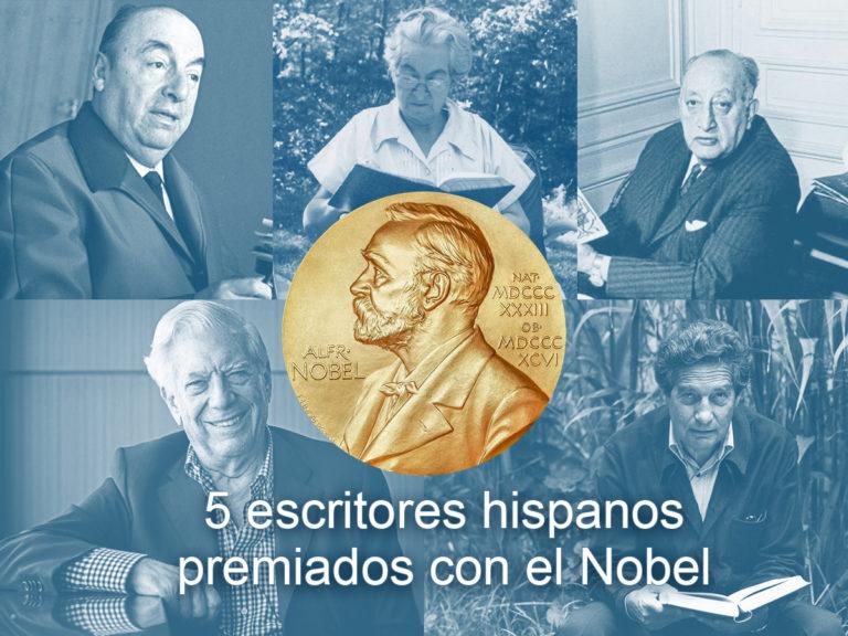 cinco escritores hispanos qe ganaron el nobel