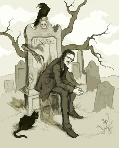 Kitzalet Como escribir un cuento de terror Allan Poe y el cuervo - Cómo escribir un cuento de terror
