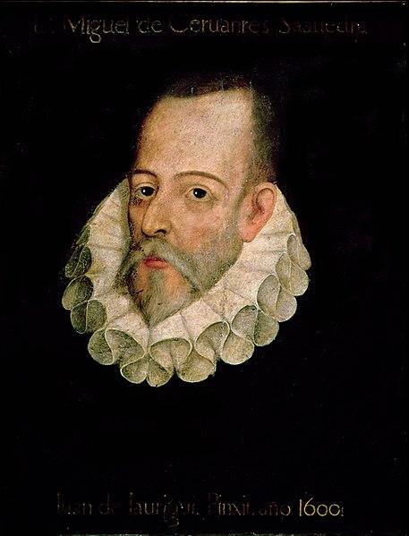 Kitzalet Retrato de Miguel de Cervantes Atribuido a Juan de Jauregui - Día del Libro y del Idioma: Shakespeare, Cervantes y Sant Jordi