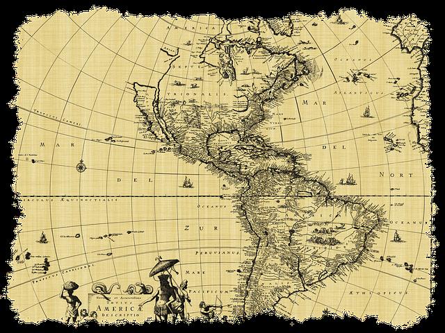 Kitzalet Cartografia en la literatura Mapa antiguo 2 - Cartografía en la literatura