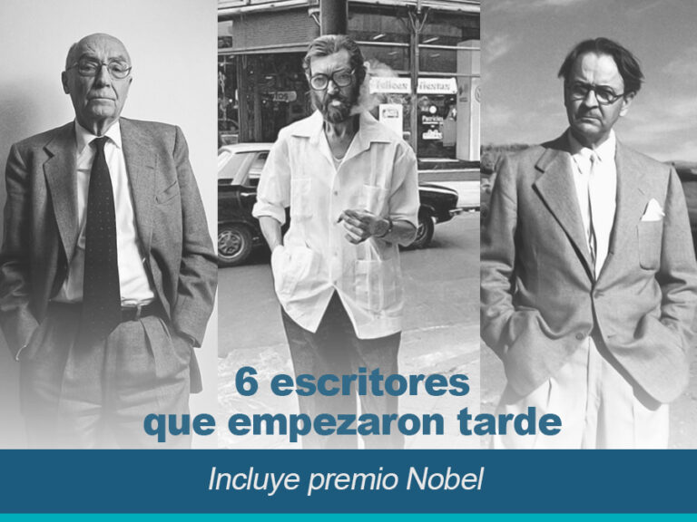 6 escritores que empezaron tarde incluye premios Nobel 768x576 - 6 Escritores que empezaron tarde (incluye premio Nobel)